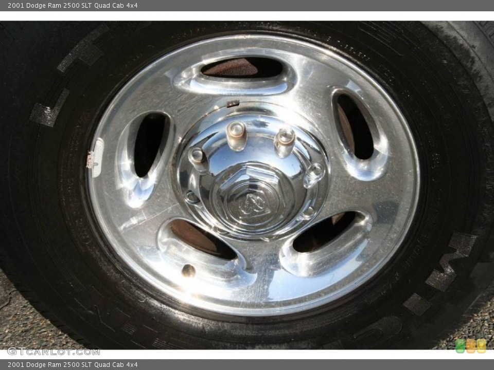 2001 Dodge Ram 2500 SLT Quad Cab 4x4 Wheel and Tire Photo #40649979
