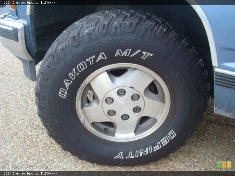 1994 Chevrolet Suburban K1500 4x4 Wheel and Tire Photo #41288201