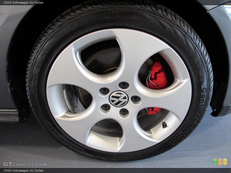2009 Volkswagen GLI Sedan Wheel and Tire Photo #42253798