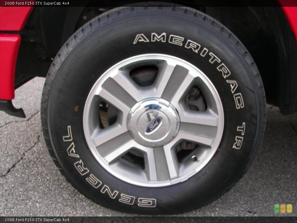 2008 Ford F150 STX SuperCab 4x4 Wheel and Tire Photo #46467990