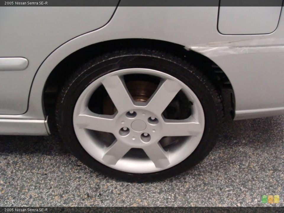 2005 Nissan Sentra SE-R Wheel and Tire Photo #49534013