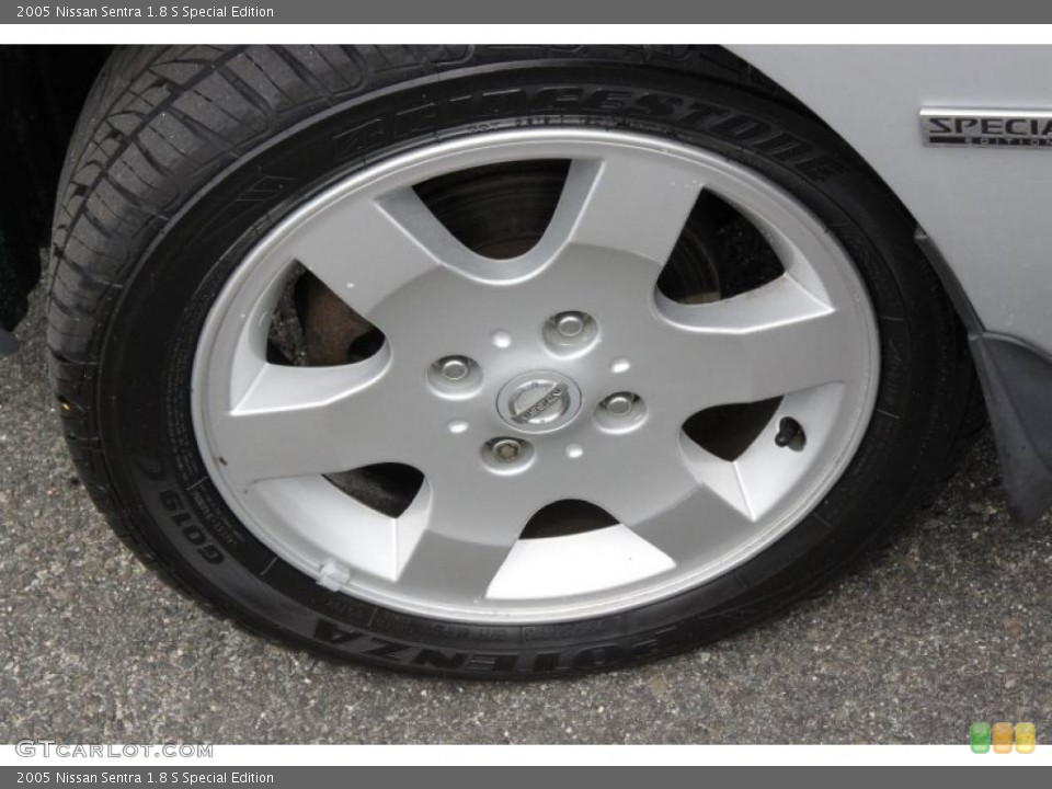 2005 Nissan Sentra 1.8 S Special Edition Wheel and Tire Photo #49809477