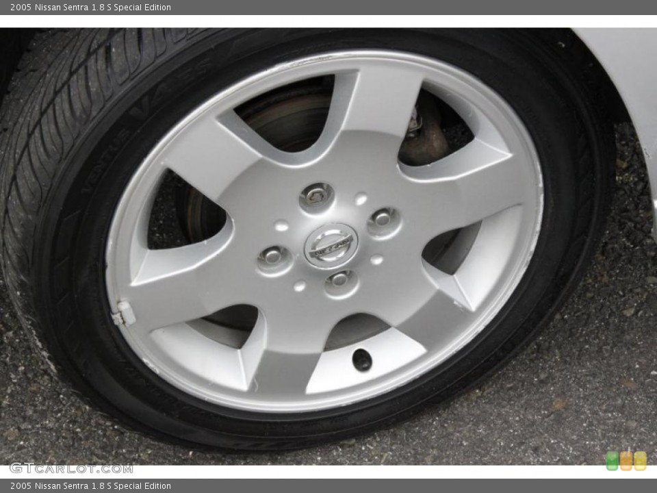 2005 Nissan Sentra 1.8 S Special Edition Wheel and Tire Photo #49809492