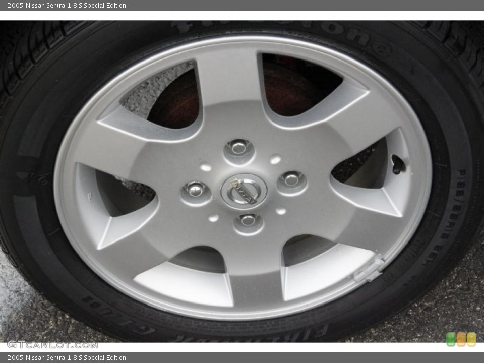 2005 Nissan Sentra 1.8 S Special Edition Wheel and Tire Photo #49809504