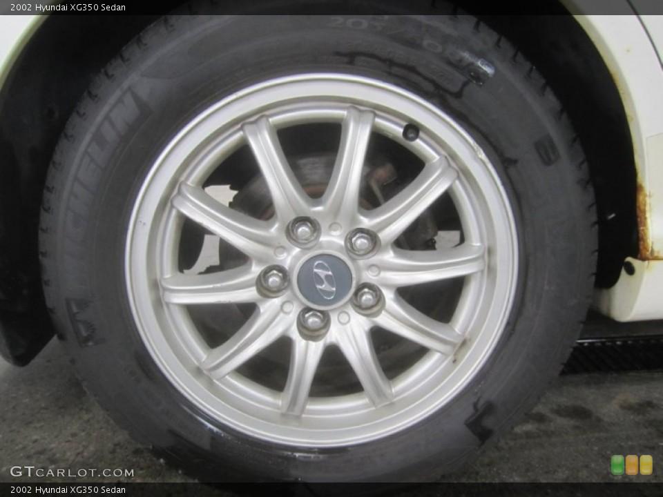 2002 Hyundai XG350 Sedan Wheel and Tire Photo #51938517