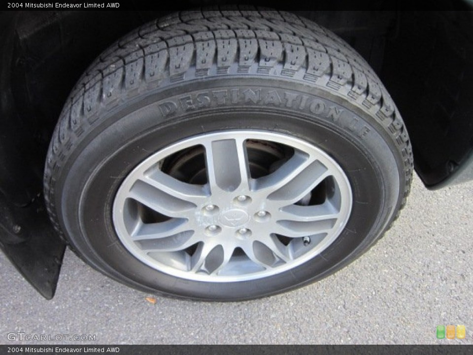 2004 Mitsubishi Endeavor Limited AWD Wheel and Tire Photo #55060491
