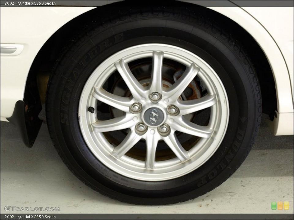 2002 Hyundai XG350 Sedan Wheel and Tire Photo #55186548