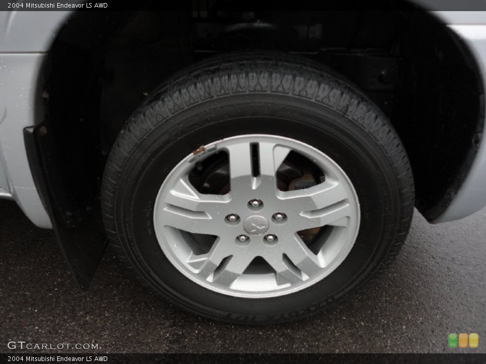 2004 Mitsubishi Endeavor LS AWD Wheel and Tire Photo #55623050