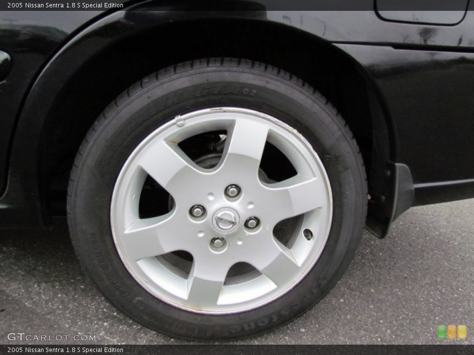 2005 Nissan Sentra 1.8 S Special Edition Wheel and Tire Photo #57056039