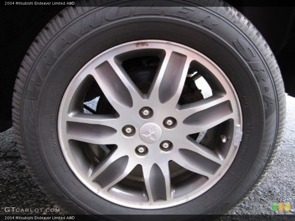 2004 Mitsubishi Endeavor Limited AWD Wheel and Tire Photo #62342039