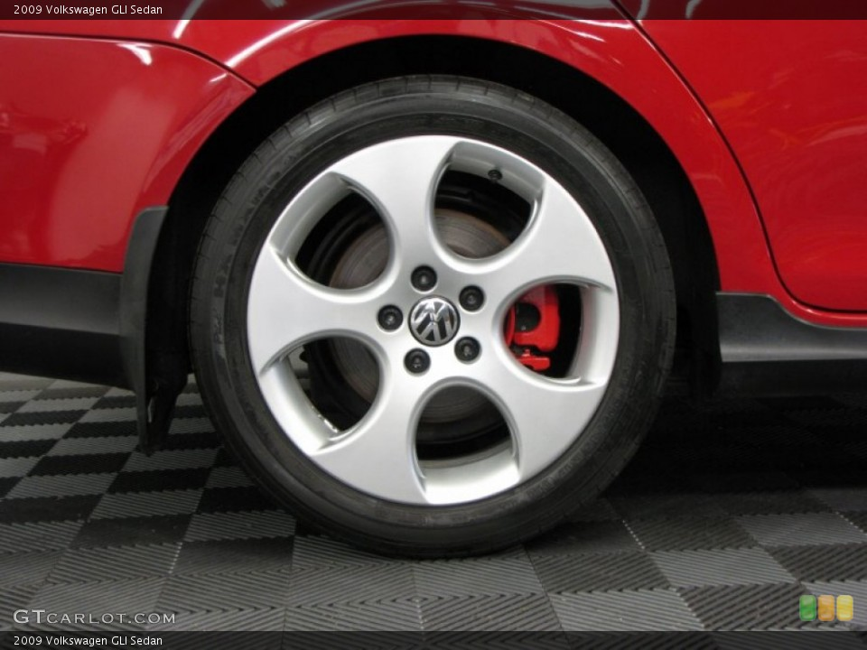 2009 Volkswagen GLI Sedan Wheel and Tire Photo #66344985