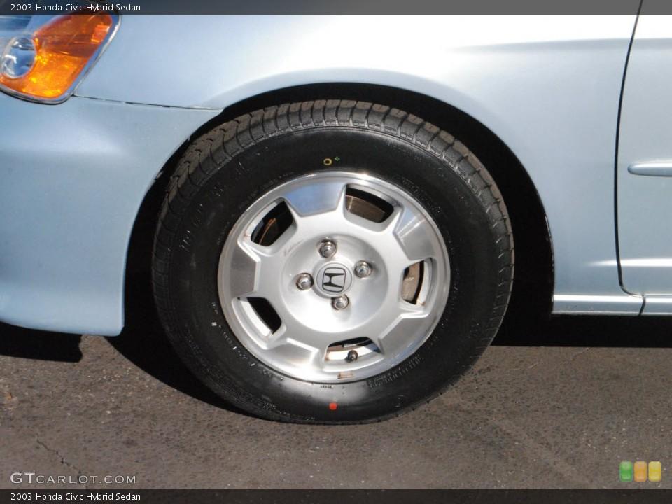 2003 Honda Civic Hybrid Sedan Wheel And Tire Photo 73517137