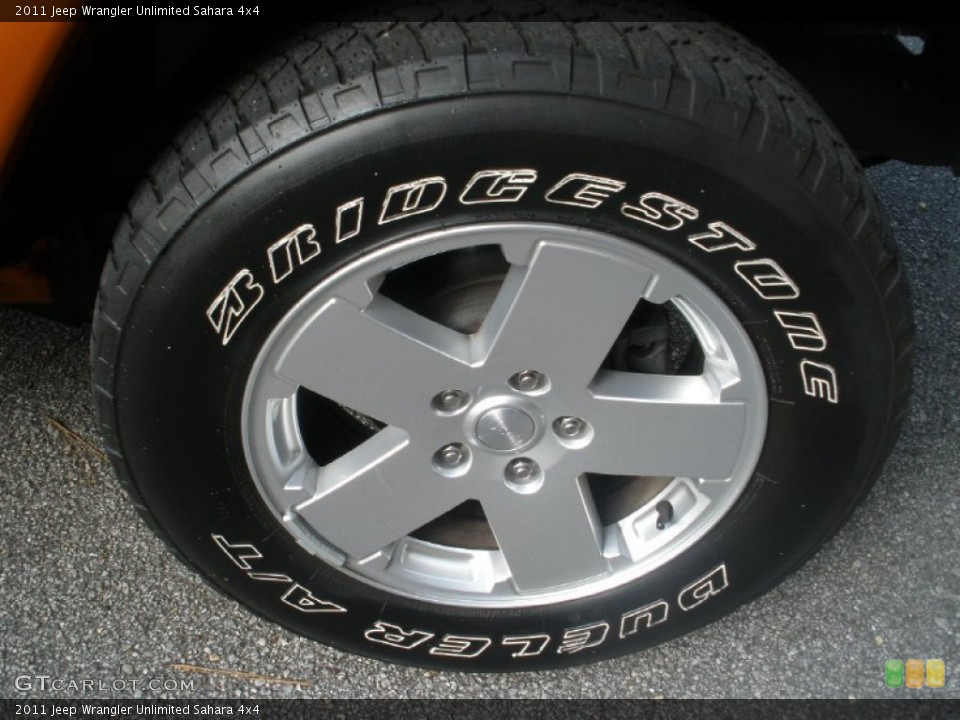 2011 jeep wrangler unlimited sahara 4x4 wheel and tire photo 74500731. Black Bedroom Furniture Sets. Home Design Ideas