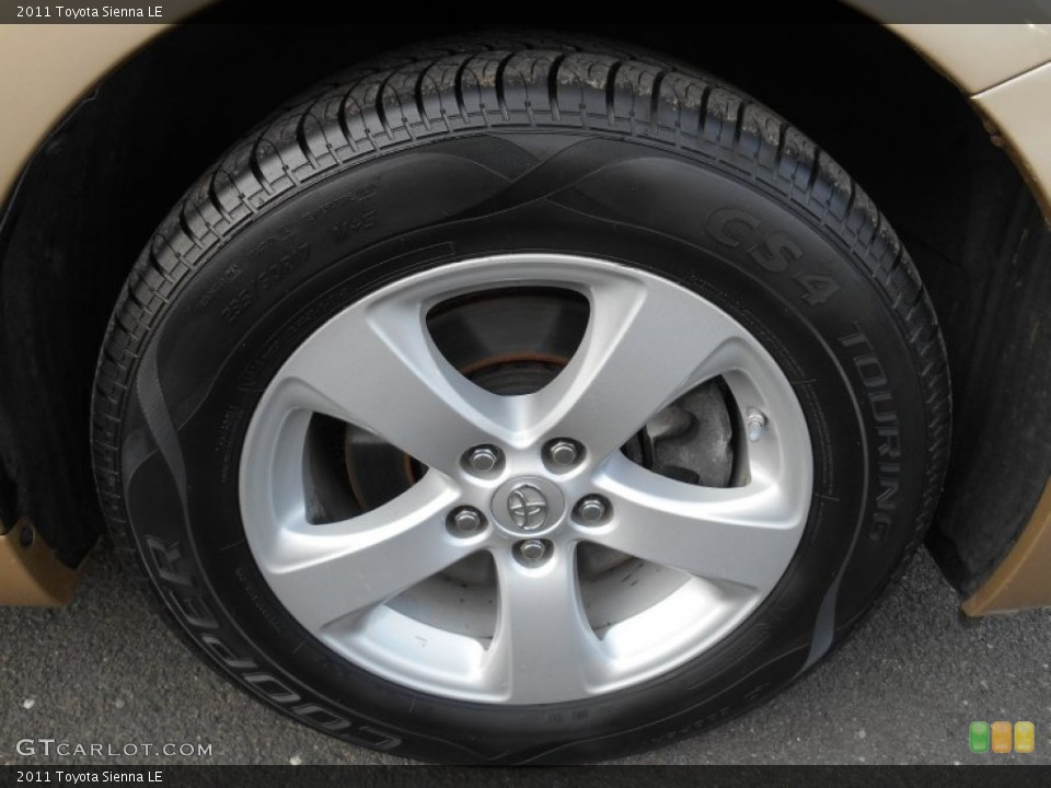 What kind of tires on 2015 sienna autos post Bessette motors minot