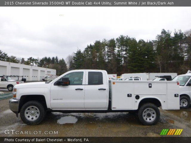 summit white 2015 chevrolet silverado 3500hd wt double cab 4x4 utility jet black dark ash. Black Bedroom Furniture Sets. Home Design Ideas
