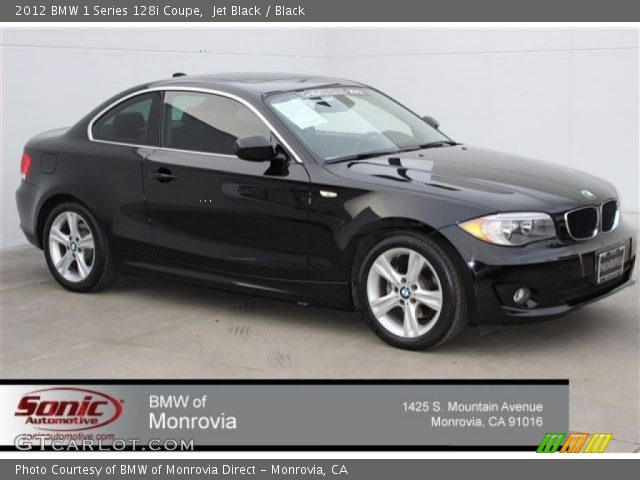 2012 BMW 1 Series 128i Coupe in Jet Black