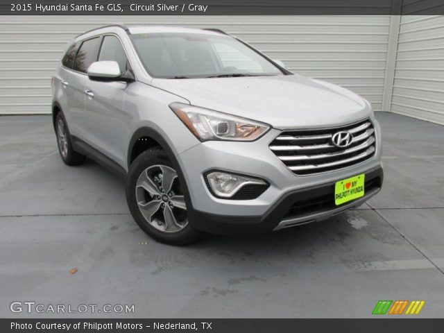circuit silver 2015 hyundai santa fe gls gray interior vehicle archive. Black Bedroom Furniture Sets. Home Design Ideas