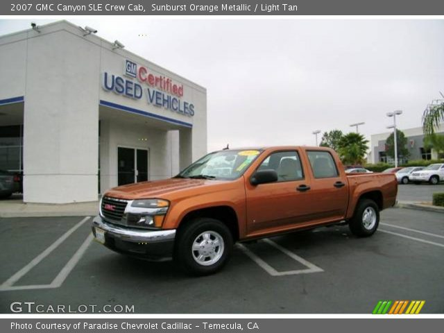sunburst orange metallic 2007 gmc canyon sle crew cab. Black Bedroom Furniture Sets. Home Design Ideas