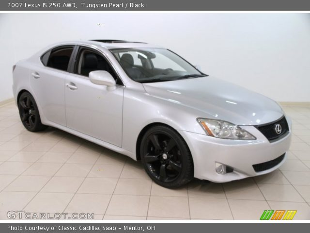 tungsten pearl 2007 lexus is 250 awd black interior vehicle archive 100284328. Black Bedroom Furniture Sets. Home Design Ideas