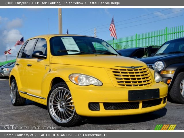 solar yellow 2006 chrysler pt cruiser touring pastel pebble beige interior. Black Bedroom Furniture Sets. Home Design Ideas