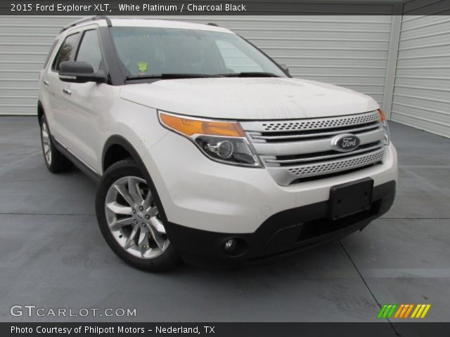 white platinum 2015 ford explorer xlt charcoal black interior vehicle. Black Bedroom Furniture Sets. Home Design Ideas