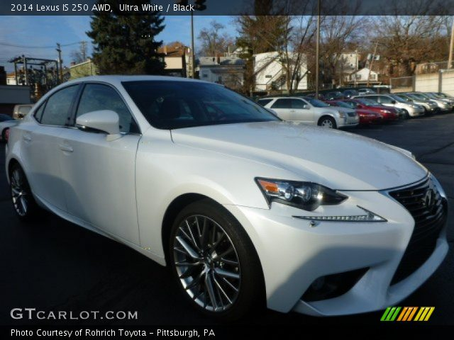 ultra white 2014 lexus is 250 awd black interior vehicle archive 100382271. Black Bedroom Furniture Sets. Home Design Ideas