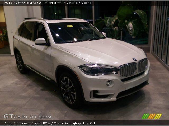 2015 BMW X5 XDrive50i In Mineral White Metallic