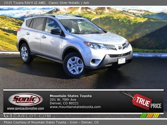 classic silver metallic 2015 toyota rav4 le awd ash interior vehicle. Black Bedroom Furniture Sets. Home Design Ideas