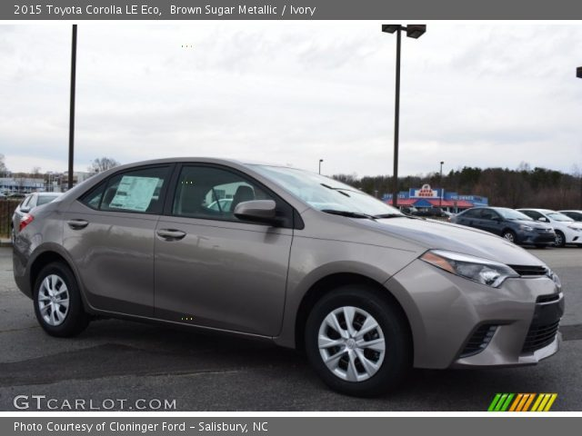 brown sugar metallic 2015 toyota corolla le eco ivory interior vehicle. Black Bedroom Furniture Sets. Home Design Ideas