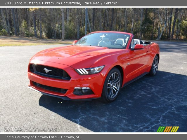 Race Red 2015 Ford Mustang Gt Premium Convertible Ceramic Interior Vehicle