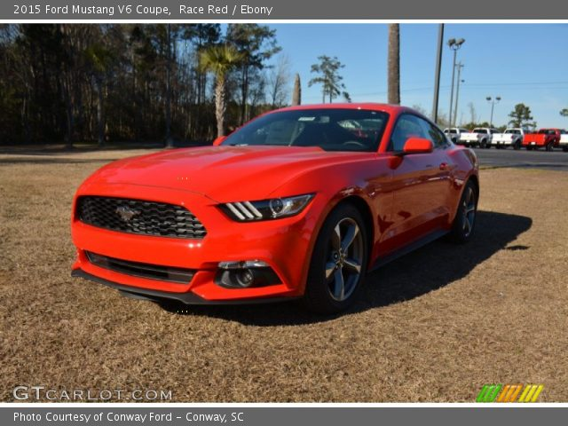 Race Red 2015 Ford Mustang V6 Coupe Ebony Interior Vehicle Archive 100557680