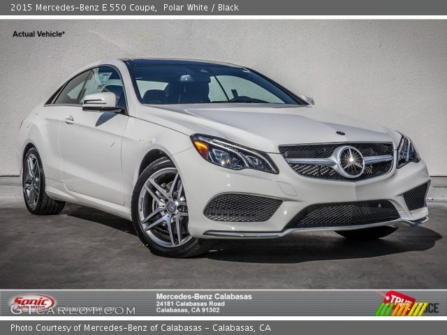 2015 Mercedes-Benz E 550 Coupe in Polar White