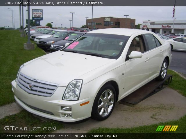 white diamond 2007 cadillac sts 4 v6 awd cashmere interior vehicle archive. Black Bedroom Furniture Sets. Home Design Ideas