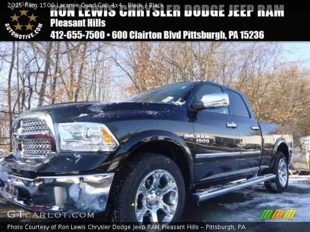 2015 Ram 1500 Laramie Quad Cab 4x4 in Black