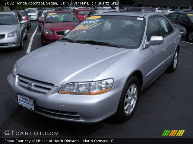 2002 Honda Accord SE Sedan in Satin Silver Metallic