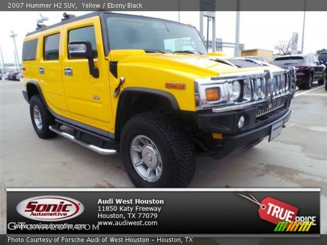 2007 Hummer H2 SUV in Yellow