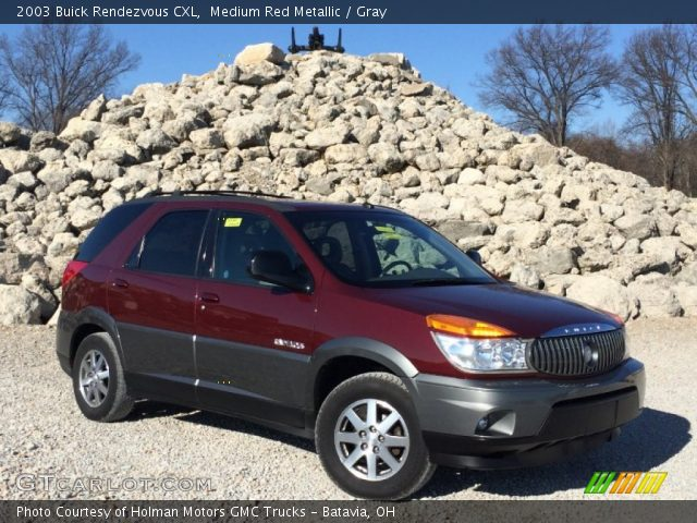 2003 Buick Rendezvous CXL in Medium Red Metallic