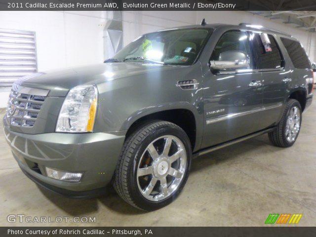 2011 Cadillac Escalade Premium AWD in Evolution Green Metallic