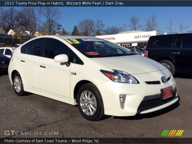 2013 Toyota Prius Plug-in Hybrid in Blizzard White Pearl