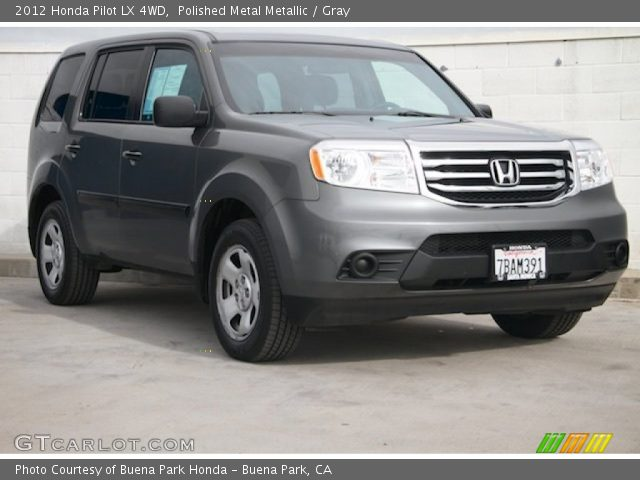 Polished metal metallic 2012 honda pilot lx 4wd gray - 2012 honda pilot exterior colors ...