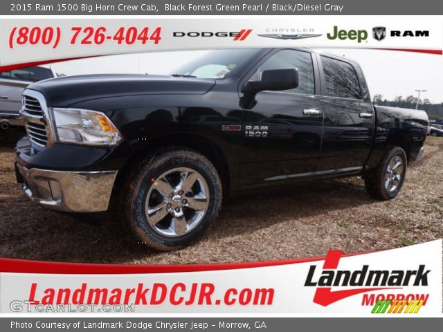 2015 Ram 1500 Big Horn Crew Cab in Black Forest Green Pearl