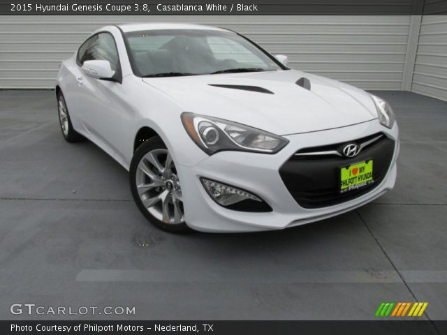 casablanca white 2015 hyundai genesis coupe 3 8 black interior vehicle. Black Bedroom Furniture Sets. Home Design Ideas