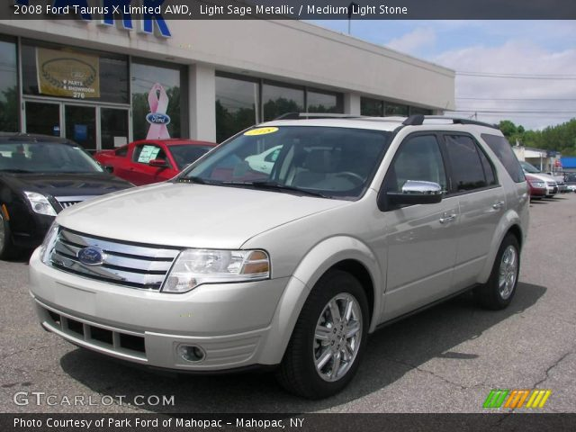 Light Sage Metallic 2008 Ford Taurus X Limited AWD with Medium Light ...