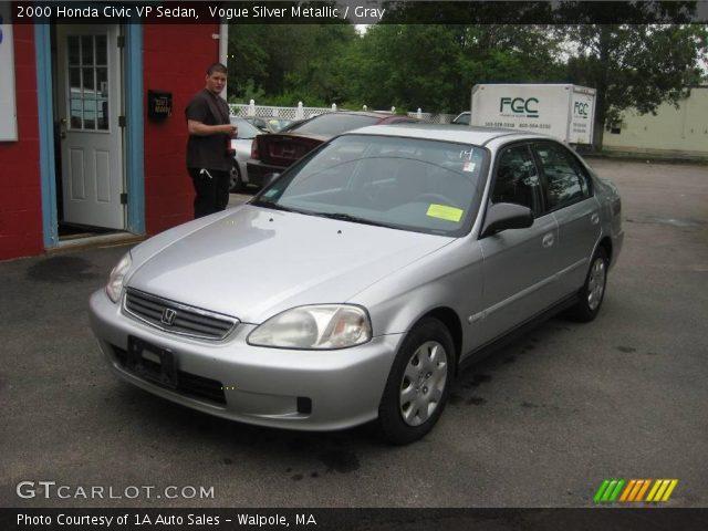 Vogue Silver Metallic - 2000 Honda Civic VP Sedan - Gray ...