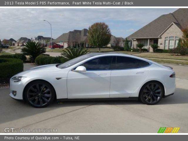 2013 Tesla Model S P85 Performance in Pearl White Tesla Multi-Coat