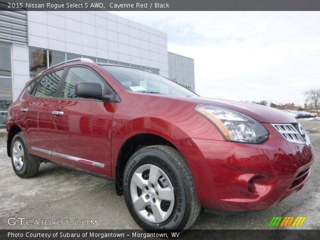 cayenne red 2015 nissan rogue select s awd black interior vehicle archive. Black Bedroom Furniture Sets. Home Design Ideas
