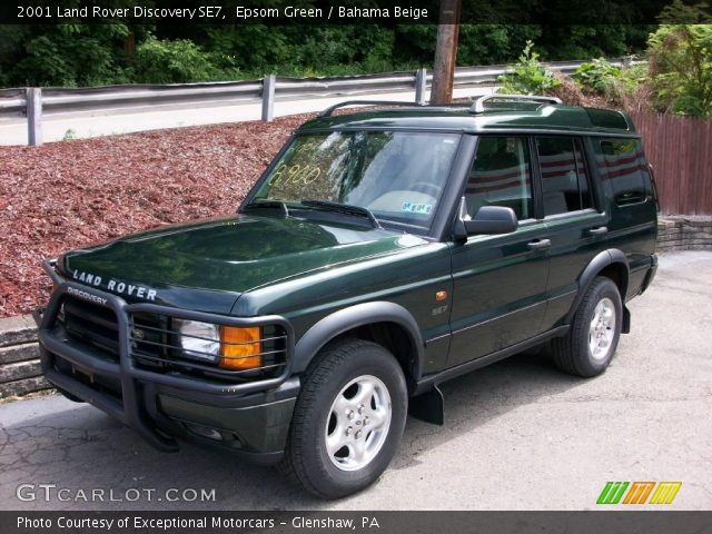 Epsom Green 2001 Land Rover Discovery Se7 Bahama Beige Interior Vehicle