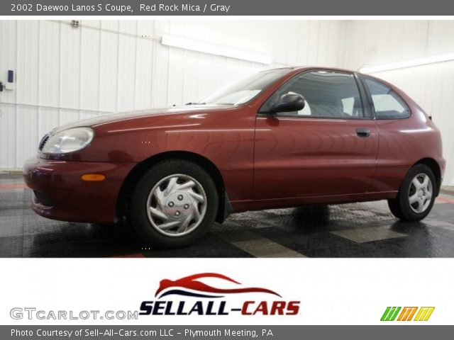 2002 Daewoo Lanos S Coupe in Red Rock Mica