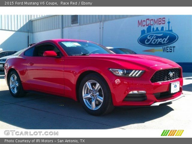 Race Red 2015 Ford Mustang V6 Coupe Ebony Interior Vehicle Archive 101405126
