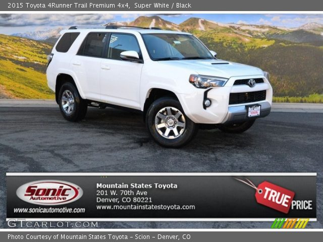 super white 2015 toyota 4runner trail premium 4x4 black interior vehicle. Black Bedroom Furniture Sets. Home Design Ideas